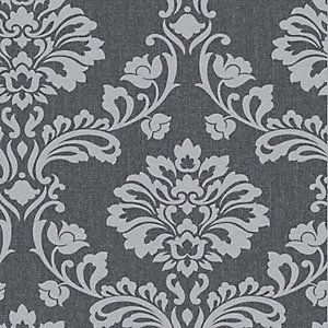 Superfresco Colour Aurora Decorative Wallpaper Black/Grey