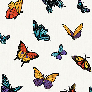 Julian Macdonald Flutterby Decorative Wallpaper Pearl