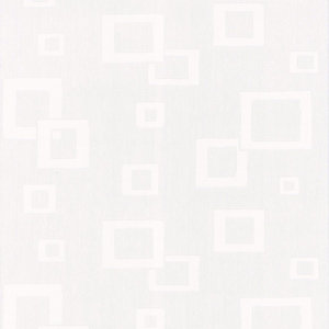 Graham & Brown Vinyl Blown Wallpaper Textured White Squares 10m