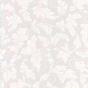 Graham & Brown Paintable Blown Wallpaper Grand Leaf 10m