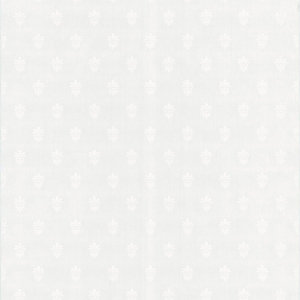 Graham & Brown Paintable Blown Vinyl Wallpaper Fleur De Lys White 10m