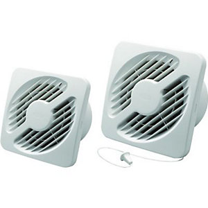 Wickes Extractor Fan with Pull Cord 100mm