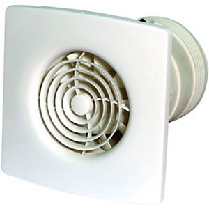 Wickes Low Noise Extractor Fan with Timer 100mm