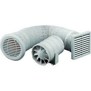 Extractor fans ducting kits cooling ventilation - Bathroom ceiling extractor fan with light ...