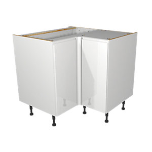 Wickes Madison White Corner base unit 925mm