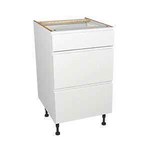 Wickes Madison White Drawer Unit 500mm