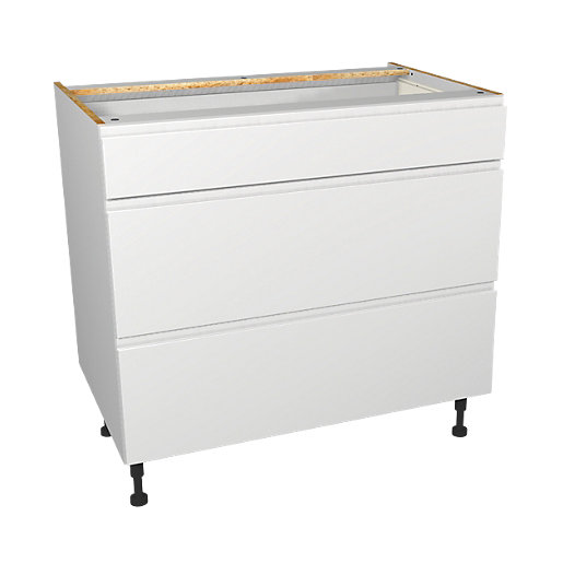 Wickes Madison White Drawer Unit Part 1 Of 2 900mm