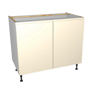 Wickes Madison Cream Base Unit 1000mm
