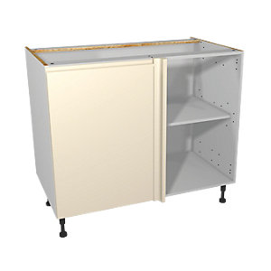 Wickes Madison Cream Corner Base Unit 1000mm