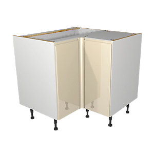Wickes Madison Cream Corner base unit 925mm