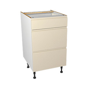 Wickes Madison Cream Drawer Unit 500mm
