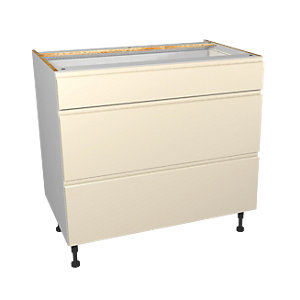 Wickes Madison Cream Drawer Unit Pt 1 of 2 900mm