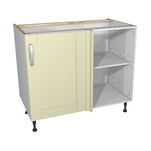 Wickes ohio corner base unit 1000 mm for Wickes kitchen cupboards