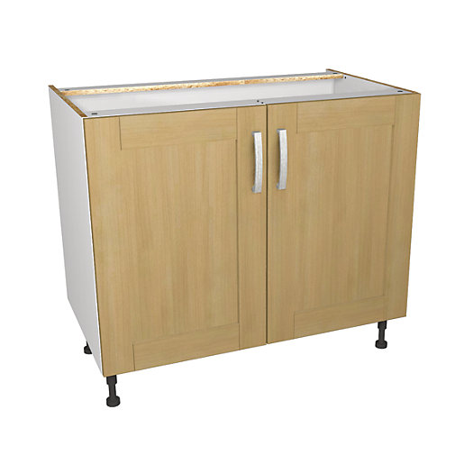 Wickes tulsa base unit 1000mm for Kitchen cabinets 500mm depth