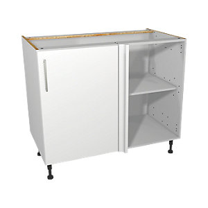 Wickes Orlando White Corner Base Unit 1000mm