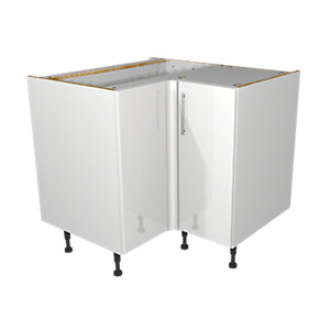 Wickes Orlando White Corner Base Unit 925mm
