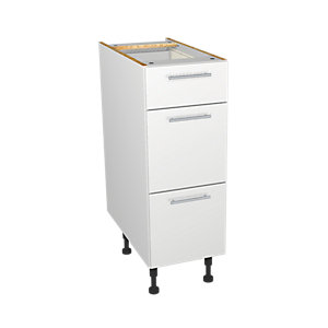 Wickes Orlando White Drawer Unit 300mm