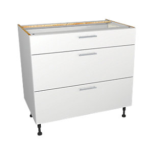 Wickes Orlando White Drawer Unit Part 1 of 2 900mm