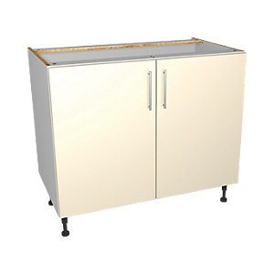 Wickes Orlando Cream Base Unit 1000mm