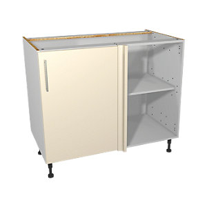 Wickes Orlando Cream Corner Base Unit 1000mm