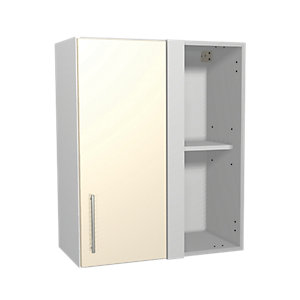Wickes Orlando Cream Corner Wall Unit 600mm