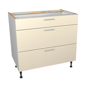 Wickes Orlando Cream Drawer Unit Pt 1 of 2 900mm