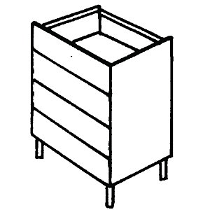 Wickes Oban Four Drawer Base Unit Tand 500mm