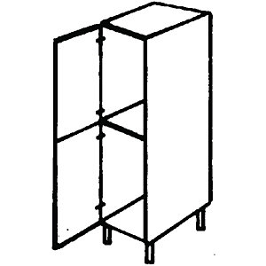 Wickes Oban Fridge/Freezer Tower Unit 600mm