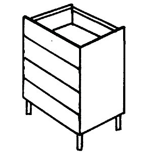 Wickes New Jersey Four Drawer Base Unit 500mm