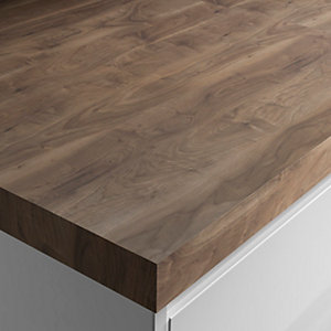 Wickes Square Edge Romantic Walnut Worktop 50x600mmx3m