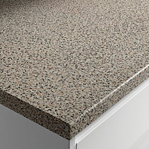 Wickes Gloss Laminate Lava Rock Worktop 38x600mmx3m