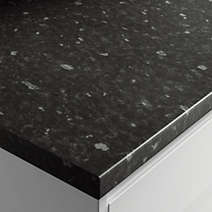 Wickes Gloss Laminate Black Slate Worktop 38x600mmx3m