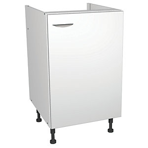 Wickes Miami Base Unit White 500mm