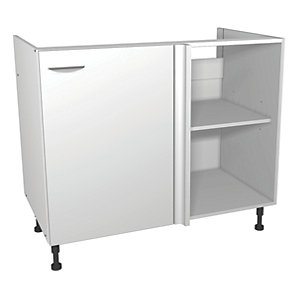 Wickes Miami Corner Base Unit White 1000mm