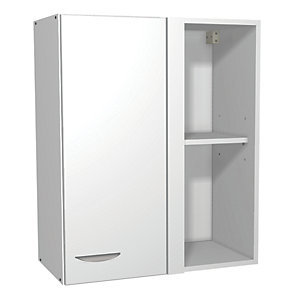 Wickes Miami Corner Wall Unit White 600mm
