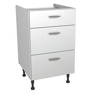 Wickes Miami Drawer Unit White 500mm