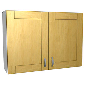 Wickes Memphis Wall Unit Oak Effect Shaker 1000mm