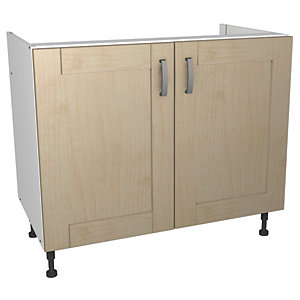Wickes Daytona Base Unit Maple Effect 1000mm