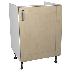 Wickes Daytona Base Unit Maple Effect 600mm