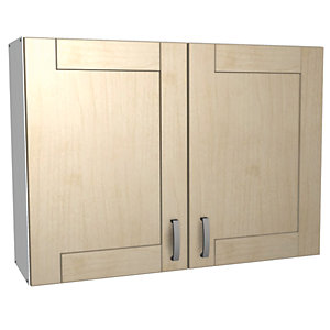 Wickes Daytona Wall Unit Maple Effect 1000mm