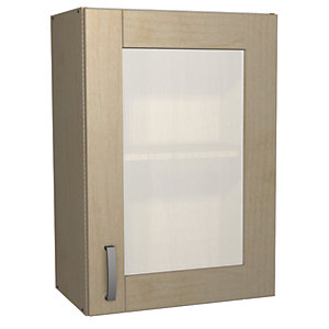Wickes Daytona Glass Wall Unit Maple Effect 500mm