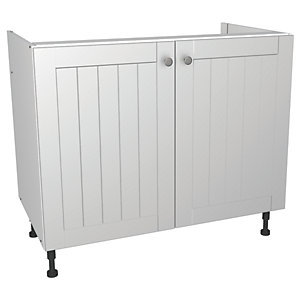 Wickes Edmonton Base Unit White Arch 1000mm