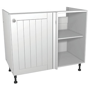 Wickes Edmonton Corner Base Unit White Arch 1000mm