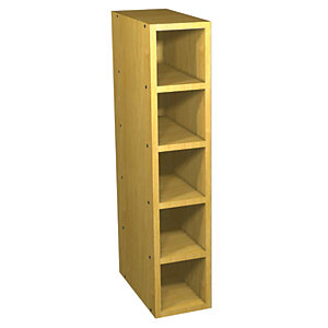 Wickes Memphis Wine Rack Oak Effect 150mm