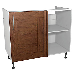 Wickes Rockford Corner Base Unit Walnut 1000mm
