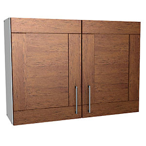 Wickes rockford wall unit walnut 1000mm deal at wickes for Wickes kitchen carcass