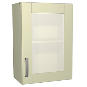 Wickes Stamford Glass Wall Unit Cream Shaker 500mm