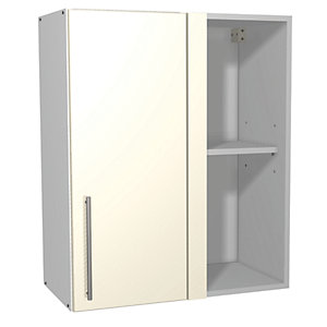 Wickes Costa Rica Corner Wall Unit Gloss Cream 600mm