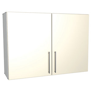 Wickes Costa Rica Wall Unit Gloss Cream 1000mm