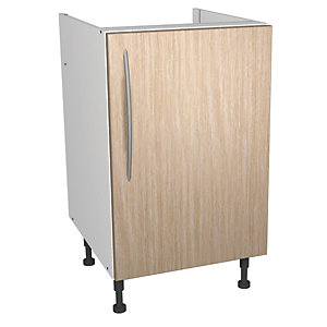 Wickes galway base unit oak effect 500mm deal at wickes for Wickes kitchen carcass